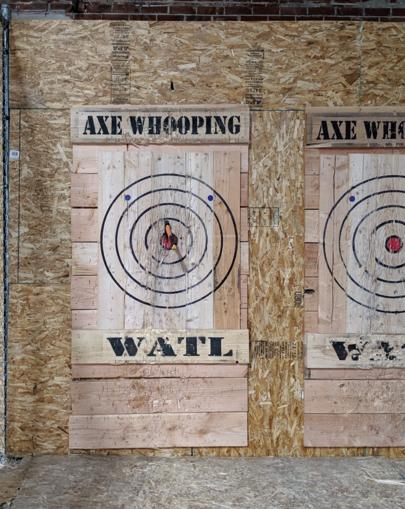 axe throwing denver bullseye